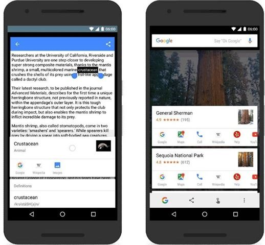 Google Now on tap update