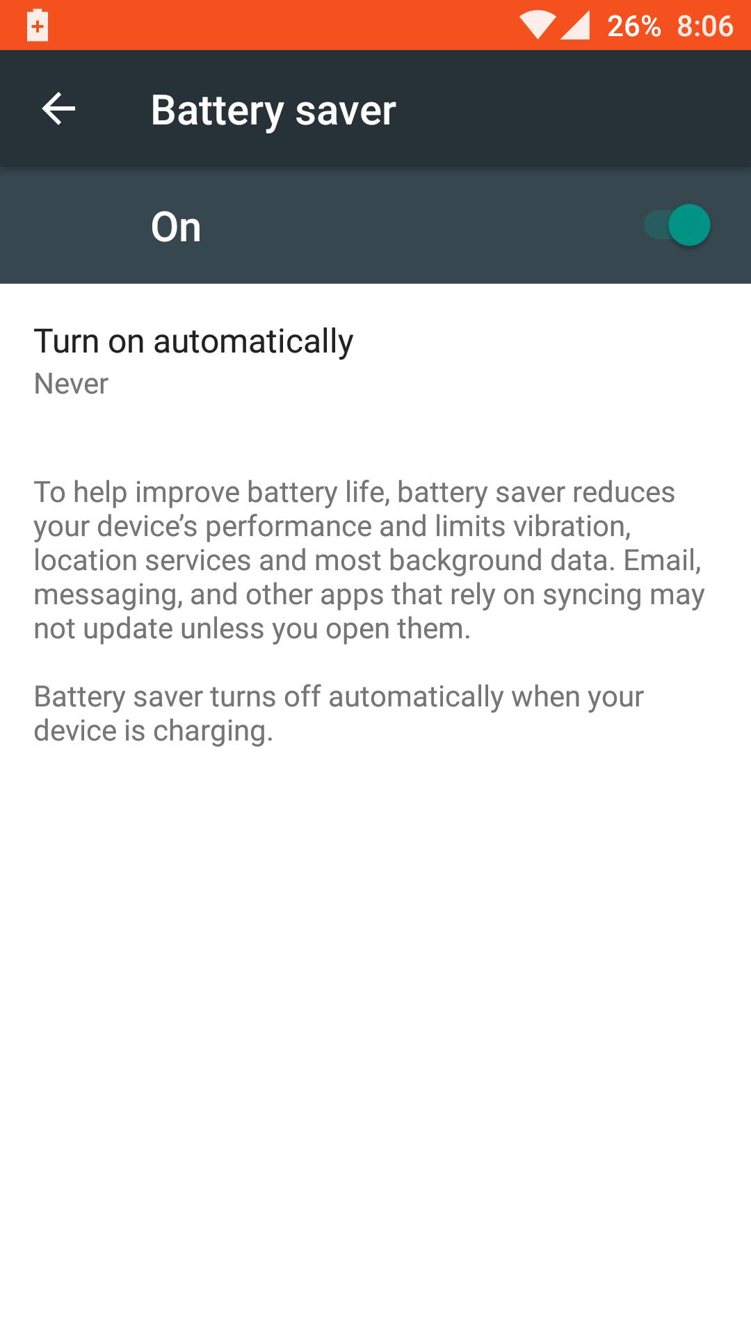 OnePlus 3_battery saver