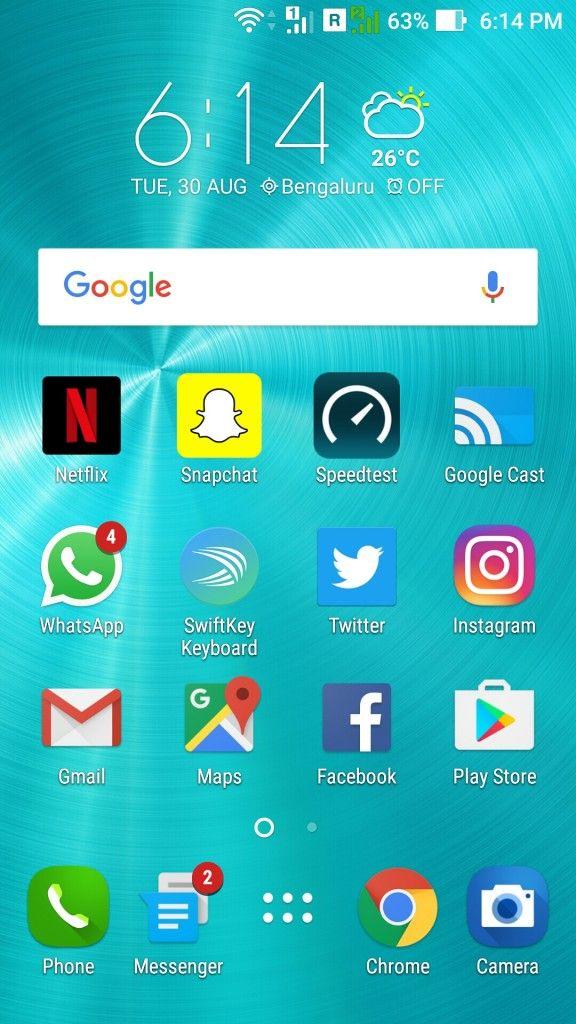 ASUS ZenFone 3_homescreen
