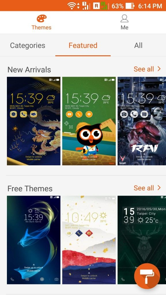 ASUS ZenFone 3_themes
