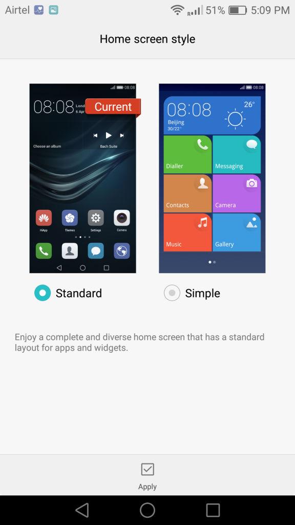 Huawei P9_Home Screen Style