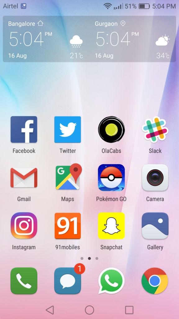 Huawei P9_homescreen