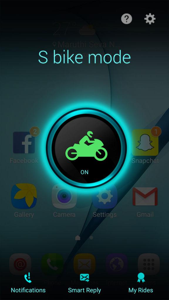 Samsung Galaxy J2_S Bike mode
