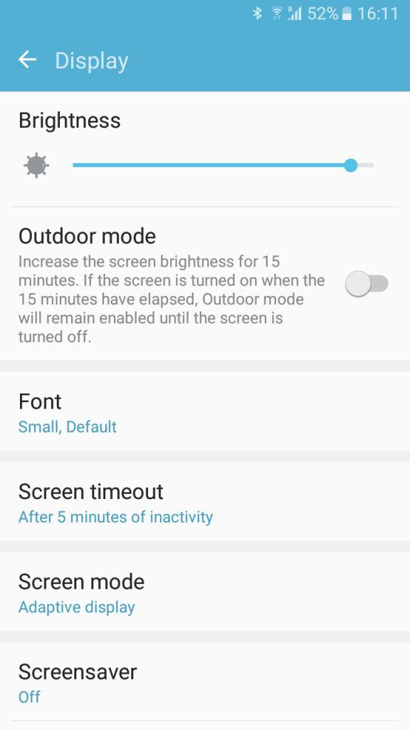 Samsung Galaxy J2_display settings