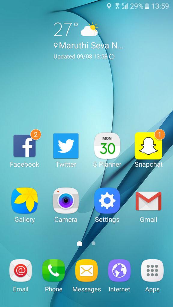 Samsung Galaxy J2_homescreen