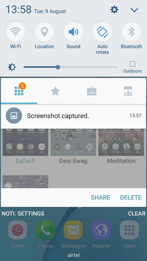 Samsung Galaxy J2_quick settings