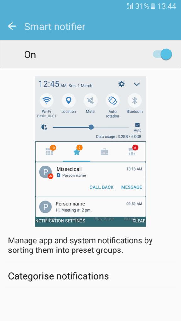 Samsung Galaxy J2_smart notifier_1