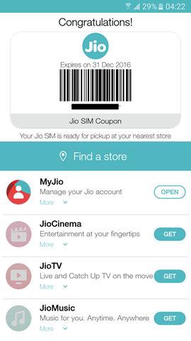 Reliance Jio - MyJio app coupon