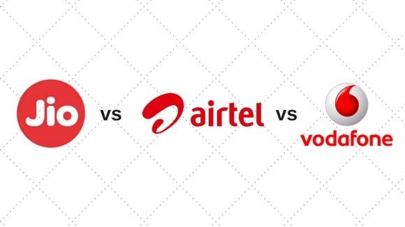 Reliance Jio vs Airtel vs Vodafone 4G speed test