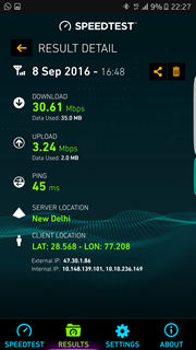 Samsung Galaxy S7 Reliance Jio 4G speed test