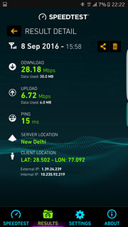 Samsung Galaxy S7 Vodafone 4G speed test