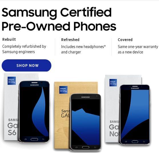 samsung starts selling refurbished galaxy smartphones and. Black Bedroom Furniture Sets. Home Design Ideas