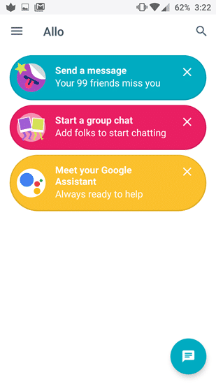 Google Allo UI