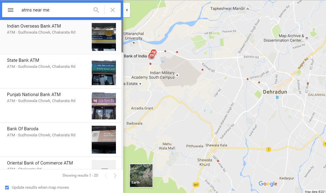 google-find-atm