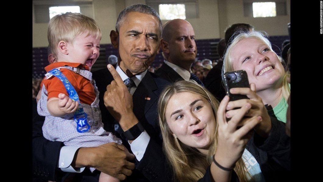 Barack Obama's pout
