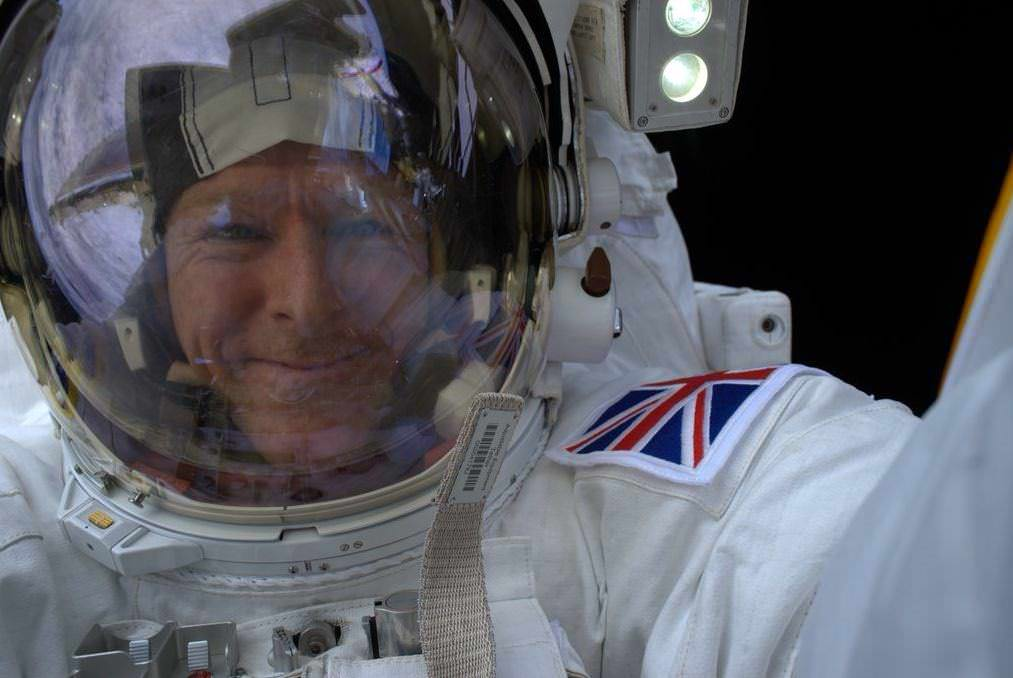 Tim Peake's selfie in space