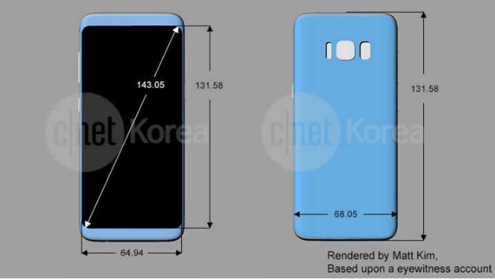 Samsung Galaxy S8 schematics