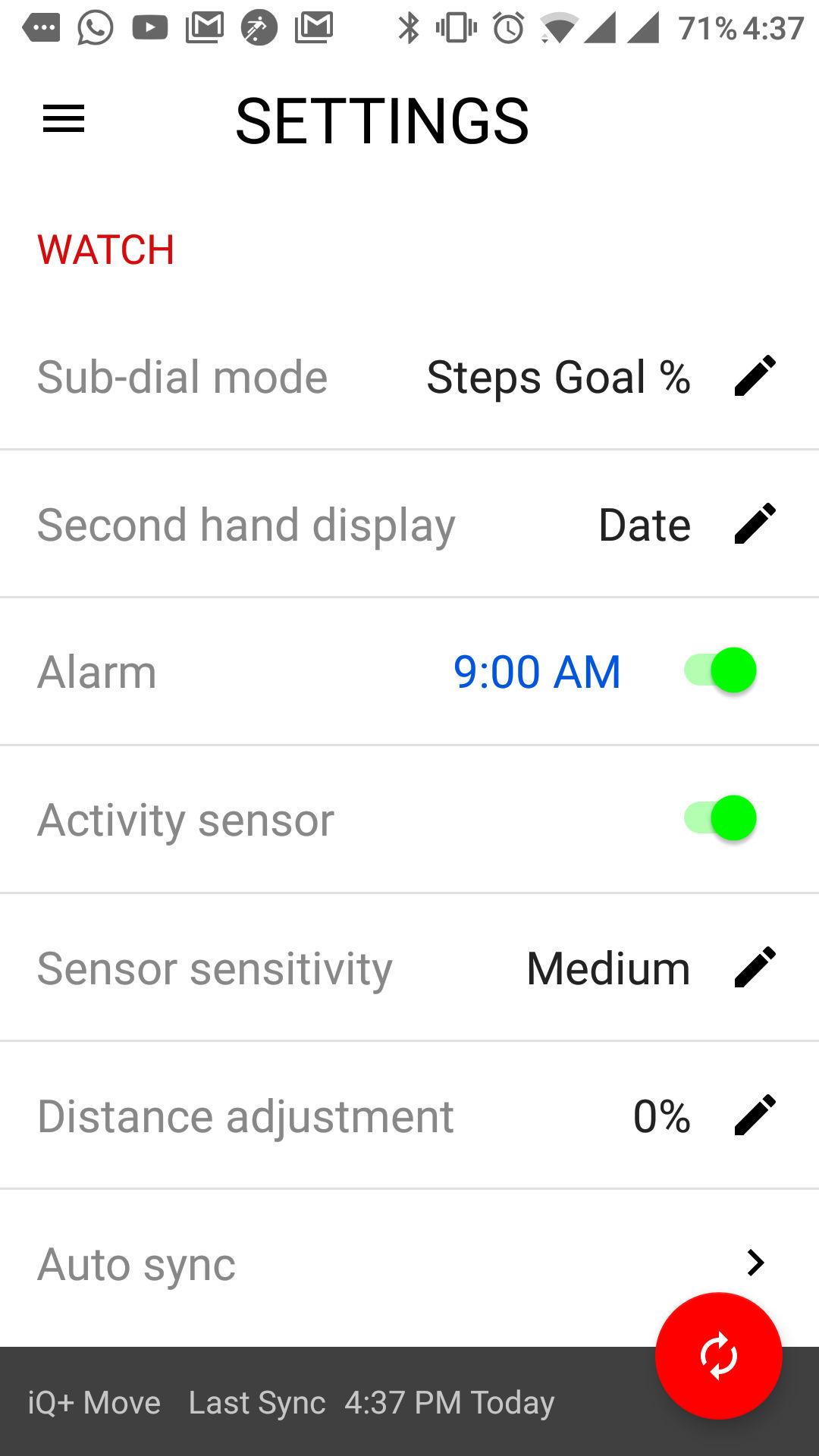 TImex IQ+ Move app 3