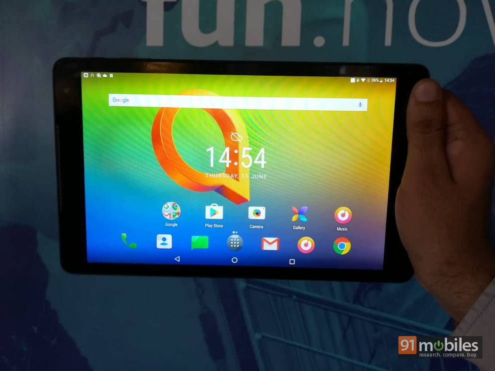 Alcatel A3 10 tablet with Android Nougat and 4,600mAh
