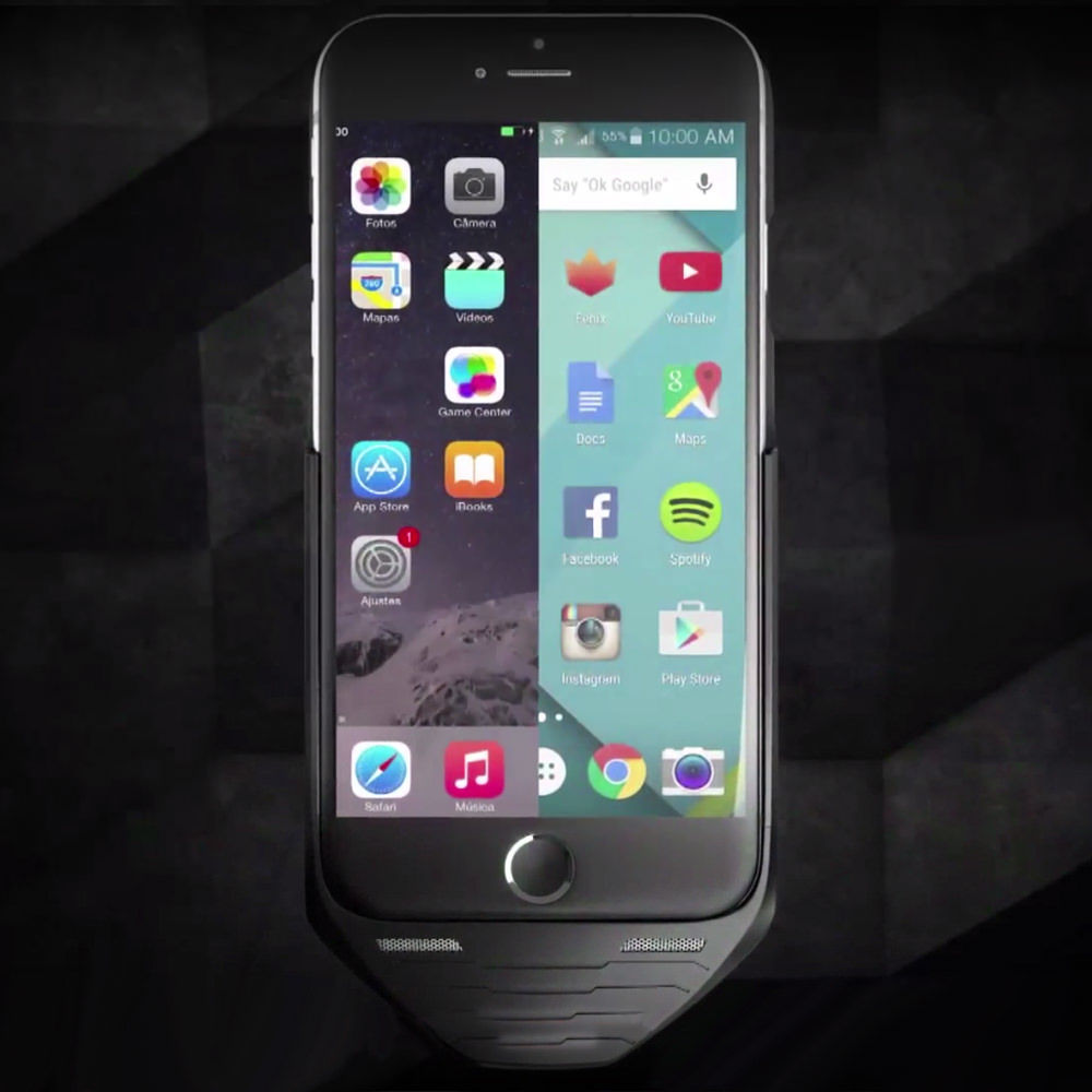 The Mesuit case infuses Android and dual-SIM functionality