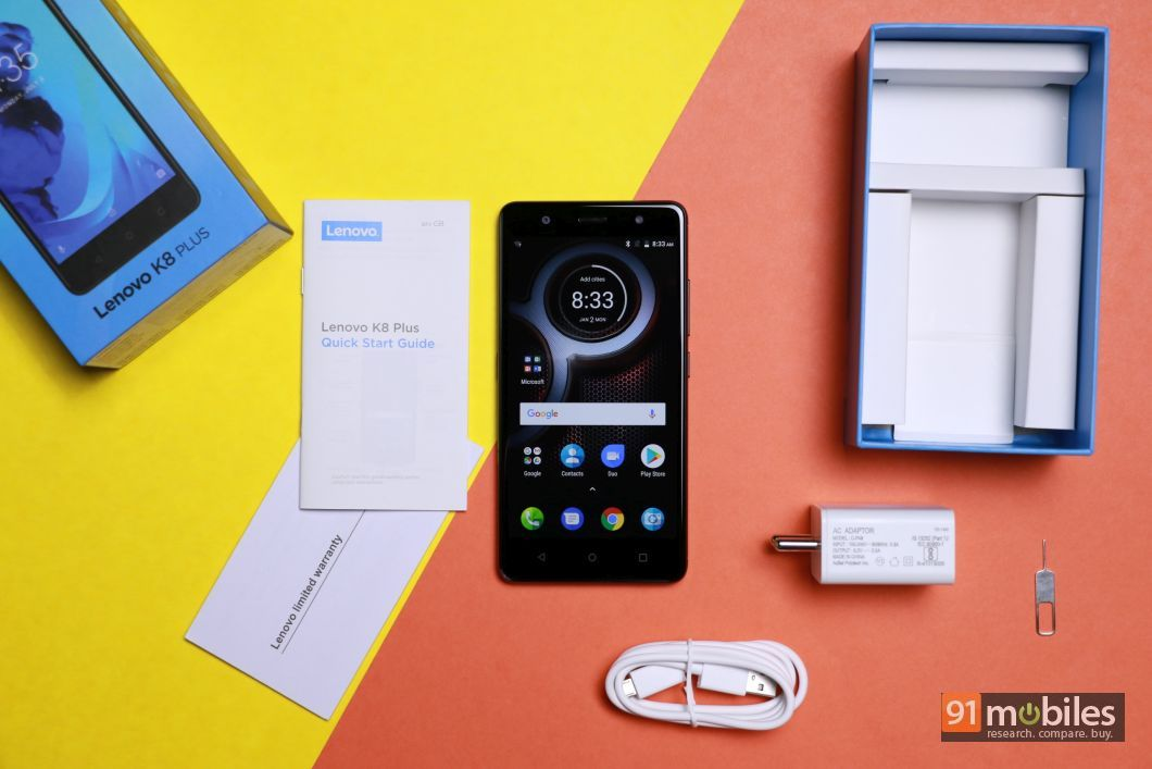 Lenovo K8 Plus unboxing and first impressions: an affordable