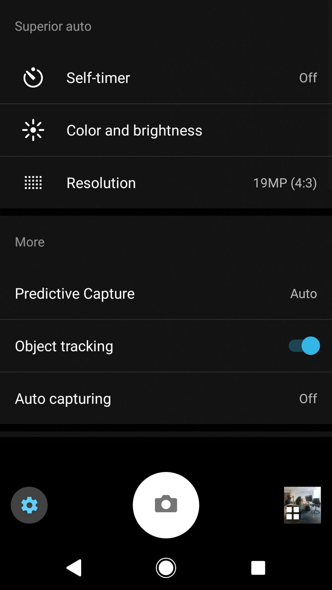 Sony Xperia XZ1 camera UI 3