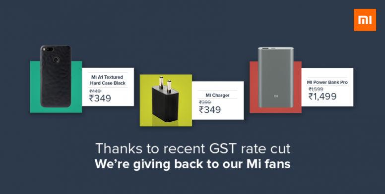 xiaomi announces post gst price cuts  mi accessories mobilescom