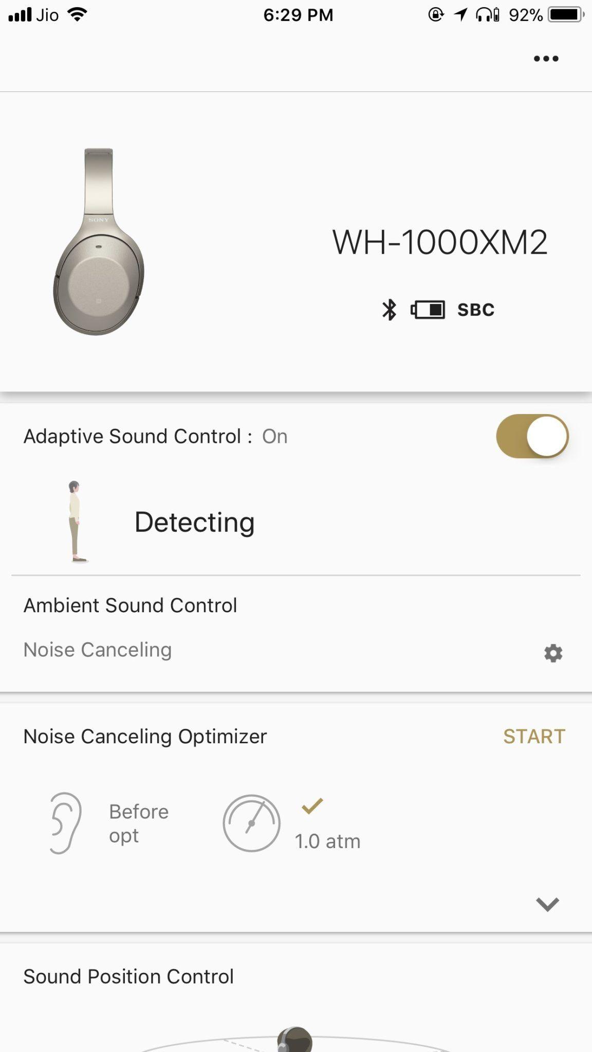 Sony WH-1000xM2 app 1