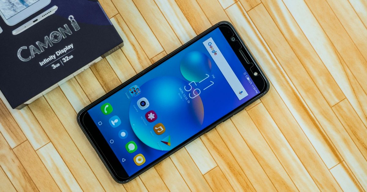TECNO Camon i unboxing and first impressions: a budget smartphone