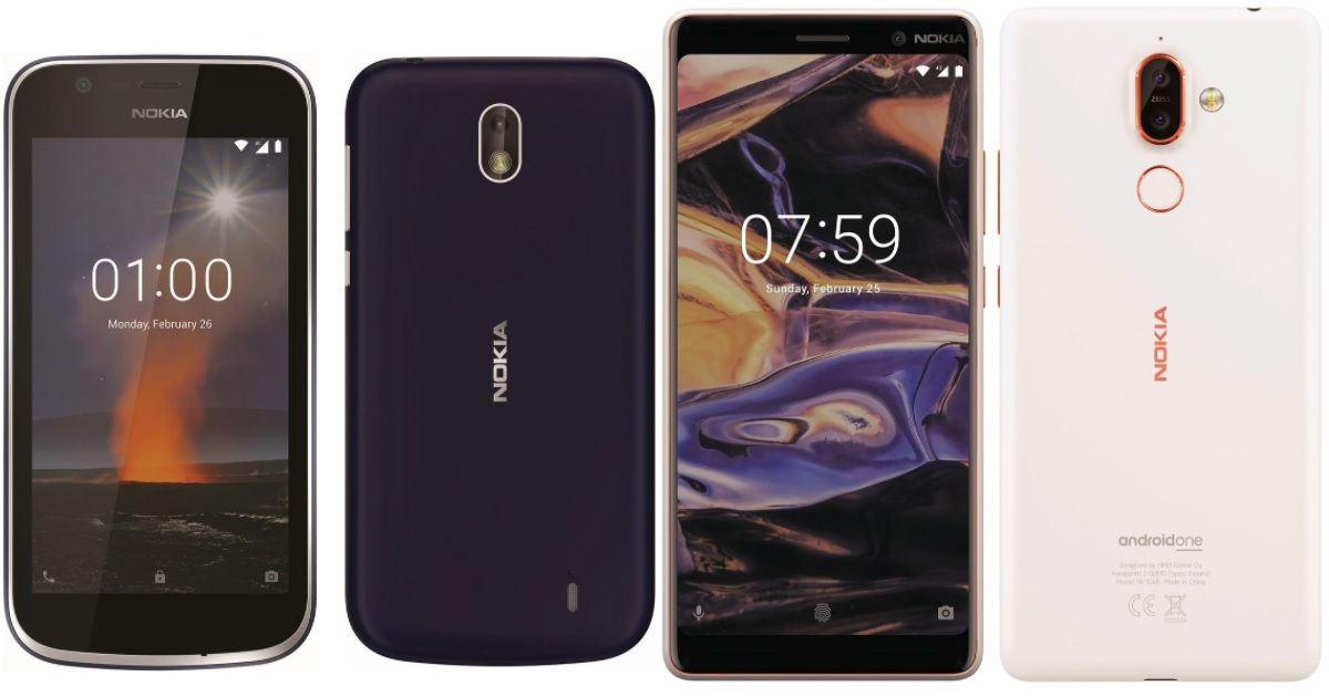 Nokia 1 and 7 Plus renders