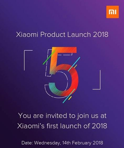Xiaomi February 14th event