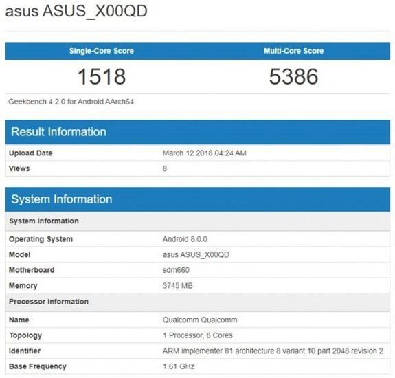 ASUS ZenFone 5 Max Geekbench