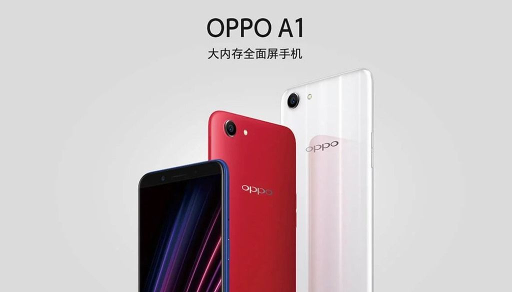OPPO A1 with 5 7-inch HD+ display and face unlock feature