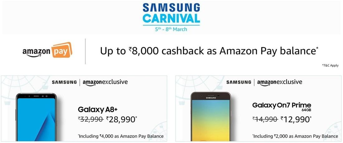7760ada5800ce3 Amazon India's Samsung Carnival brings discounts on Galaxy Note 8 ...
