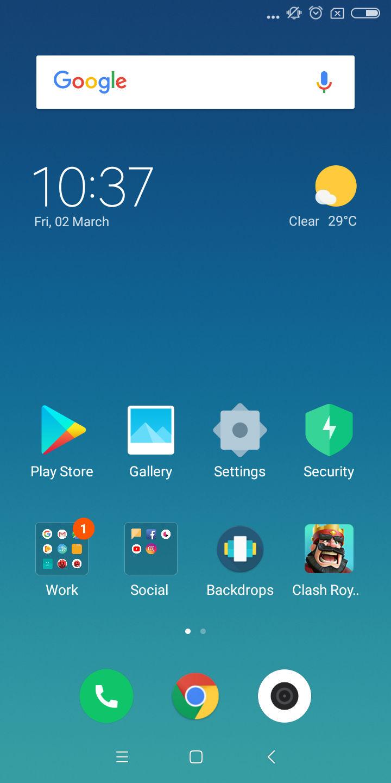Xiaomi Redmi 5 UI 3