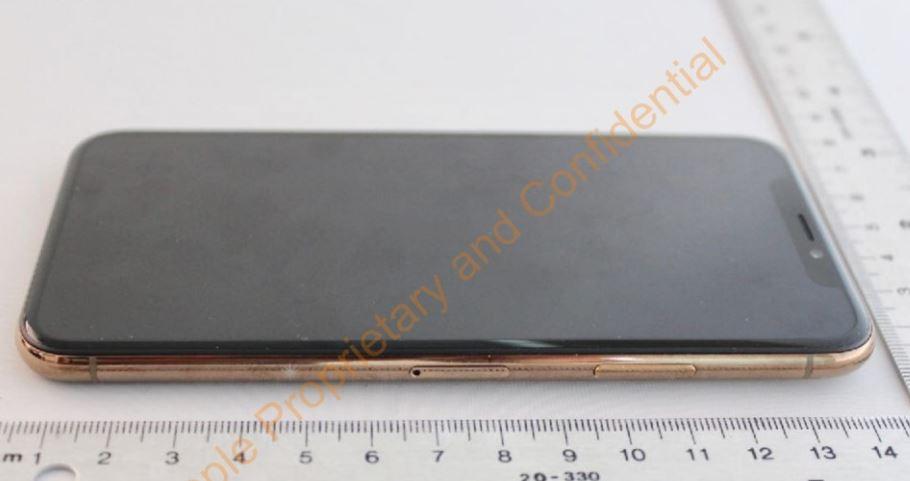 Apple iPhone X gold FCC design