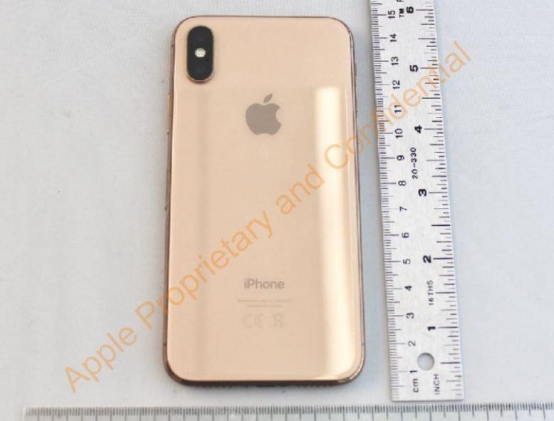 Apple iPhone X gold FCC