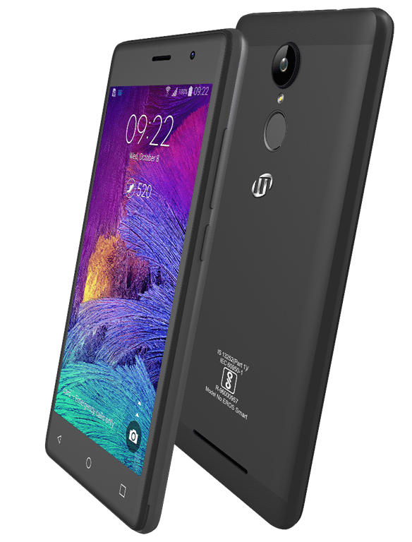 M-tech Eros Smart with 5-inch HD display and fingerprint scanner