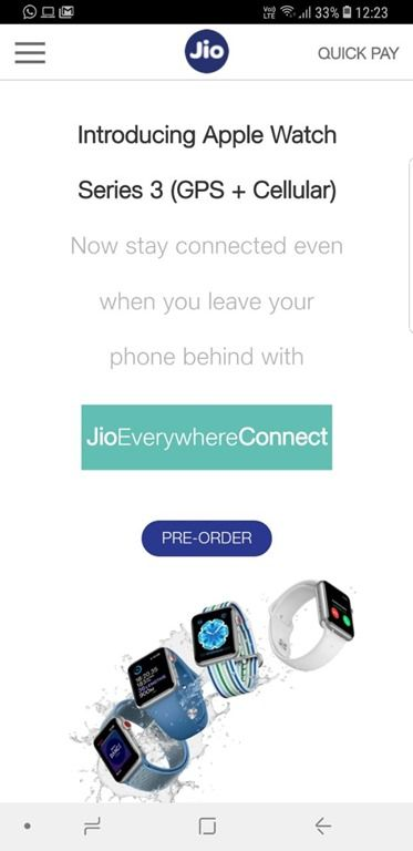 Apple Watch Series 3 up for pre-registration on Airtel website