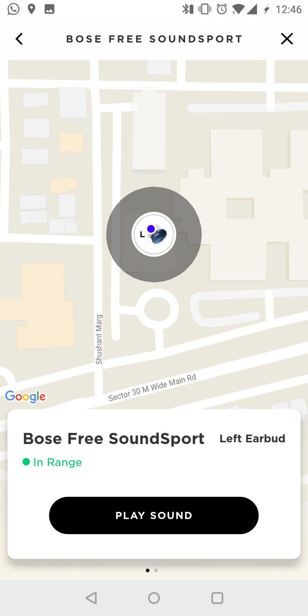 Bose SoundSport Free App UI 3