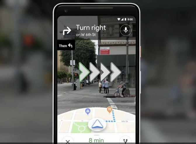 Google Maps AR 1
