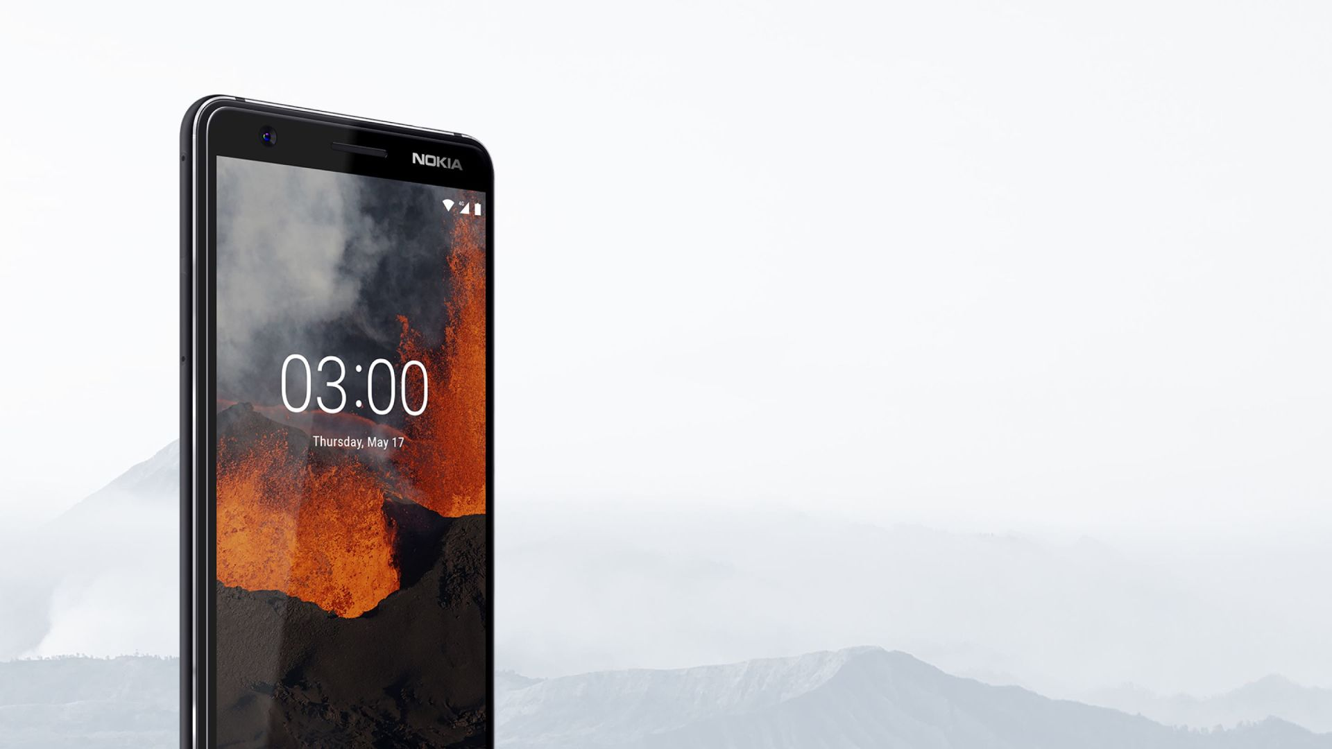 Nokia 3.1 with background