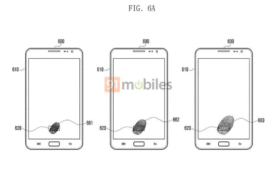 Samsung Under Display patent