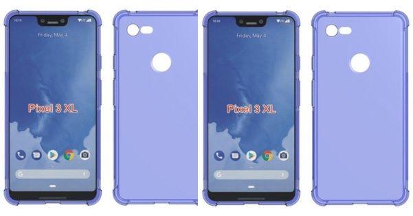 Google Pixel 3 XL case render FB