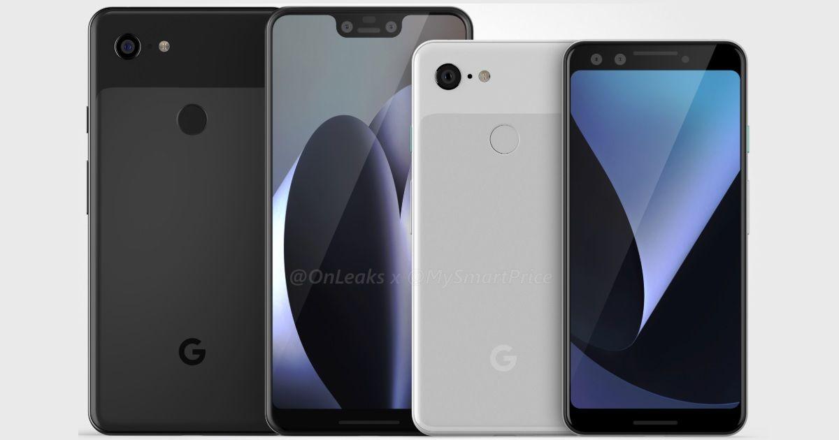 Google Pixel 3 and Pixel 3 XL CAD renders