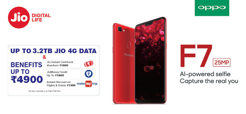 Jio offers OPPO smartphone users benefits of up to Rs 4,900 on