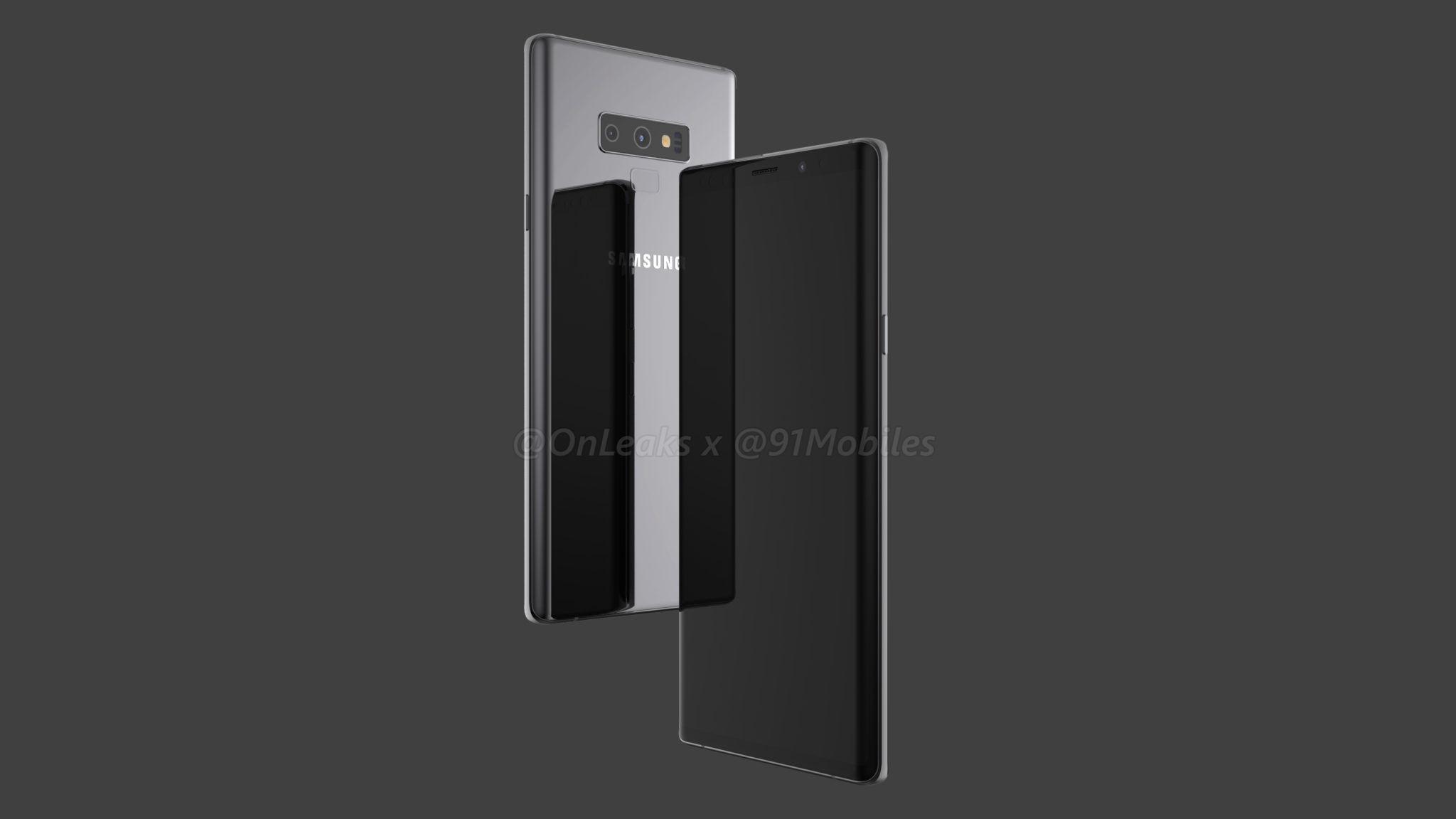 Samsung Galaxy Note 9 4k render - 91mobiles (2)