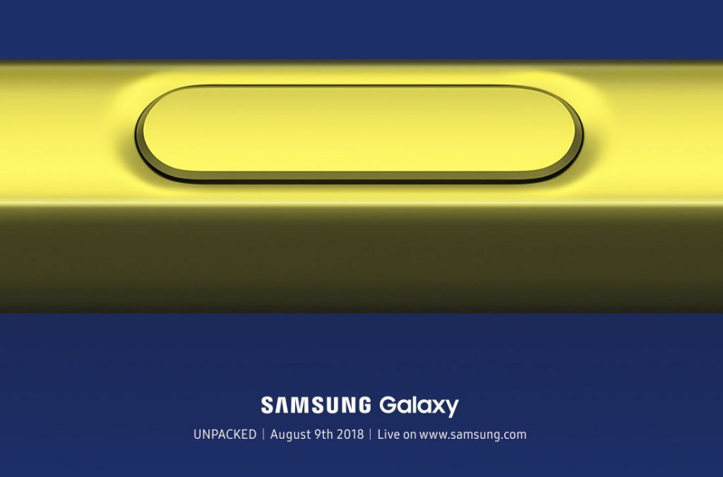 Samsung Galaxy Note 9 event invite