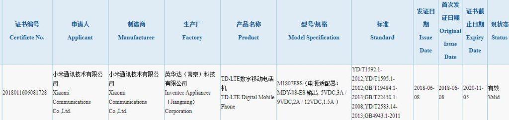 Xiaomi Mi Max 3 3C