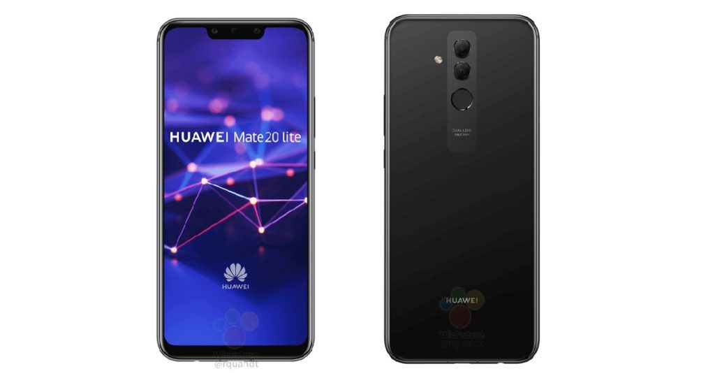 Huawei Mate 20 Lite images allegedly leaked; reveals notch ...